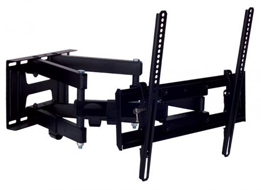 "Кронштейн Kromax Pixis-L черный 22""-65"" настенный от стены 75-500мм  наклон +3°-10° VESA 400х400мм до 50кг"