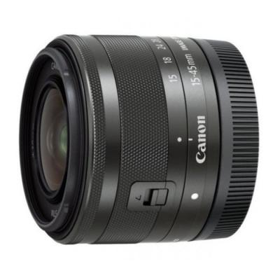 Объектив Canon EF-M STM 15-45mm f/3.5-6.3 черный 0572C005 объектив canon ef s 24 mm f 2 8 stm