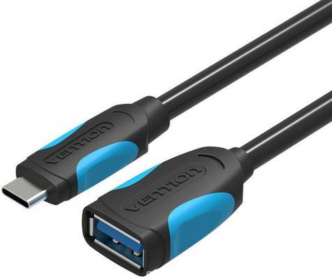 Кабель OTG USB C(m) - USB 3.0 A(f) Vention VAS-A51-B010 10см гибкий