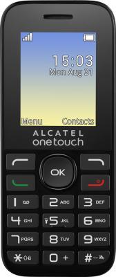 Мобильный телефон Alcatel OneTouch 1020D черный 1.77 4 Мб аксессуар защитная пленка alcatel onetouch idol alpha media gadget premium прозрачная mg986