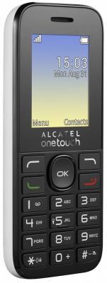 Мобильный телефон Alcatel OneTouch 1020D белый 1.77 4 Мб аксессуар защитная пленка alcatel onetouch idol alpha media gadget premium прозрачная mg986