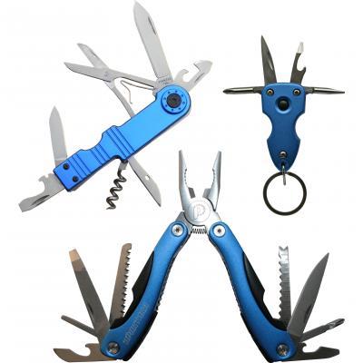 Мультитул Практика плоскогубцы 12 в 1 + нож складной 8 в 1 + брелок 6 в 1 775-037