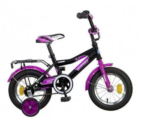 Велосипед Novatrack Cosmic 12 черно-фиолетовый детский велосипед для девочек novatrack 14 cosmic black 143bk5