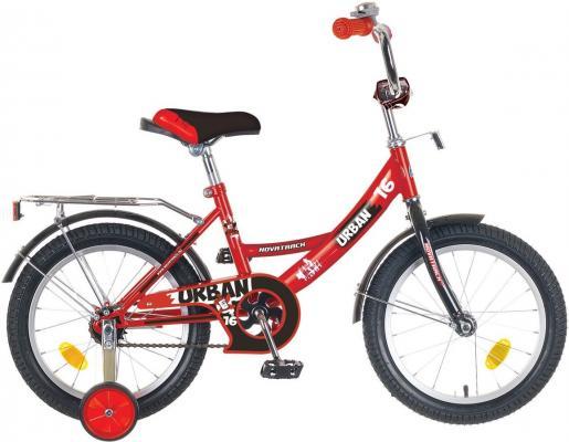 """Велосипед двухколёсный NOVATRACK 14"""" URBAN, красный, тормоз нож., цветн.крылья, багажник хром.,"""