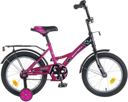 """Велосипед двухколёсный NOVATRACK 14"""" FR-10, фиолетовый, тормоз нож., крылья цвет., багажник хром."""