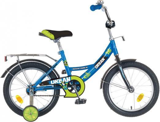 """Велосипед двухколёсный NOVATRACK 14"""" URBAN, синий, тормоз нож., цветн.крылья, багажник хром."""