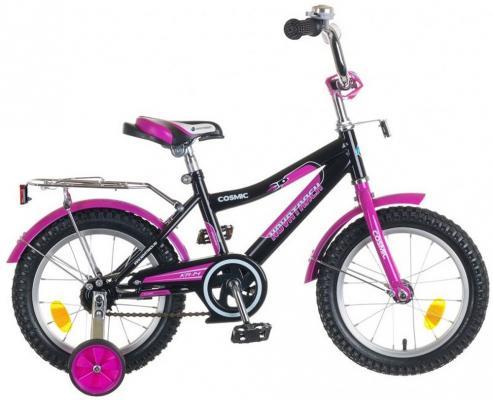 """Велосипед Novatrack """"Cosmic"""" 14"""" черно-фиолетовый"""