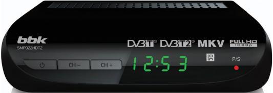 Тюнер цифровой DVB-T2 BBK SMP022HDT2 черный тюнер цифровой dvb t2 bbk smp022hdt2 серый