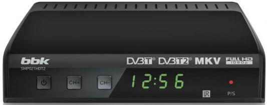 Тюнер цифровой DVB-T2 BBK SMP021HDT2 серый цифровой телевизионный dvb t2 ресивер bbk smp021hdt2 тёмно серый