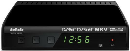 Тюнер цифровой DVB-T2 BBK SMP021HDT2 черный тюнер цифровой dvb t2 rolsen rdb 507nr красный