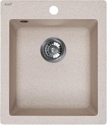 Мойка Weissgauff QUADRO 420 Eco Granit светло-бежевый  цена и фото