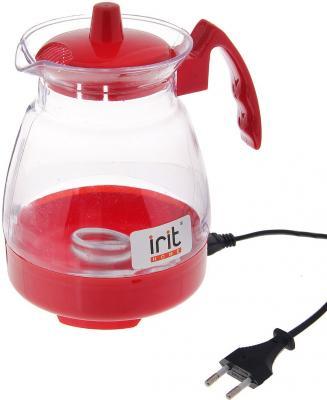 Чайник Irit IR-1123 600 Вт красный прозрачный 1.2 л пластик
