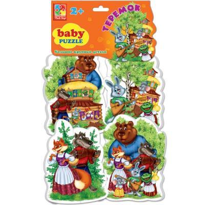Мягкий пазл 16 элементов Vladi toys Baby puzzle Сказки Теремок VT1106-35 мягкий пазл 20 элементов vladi toys зверята vt3203 42
