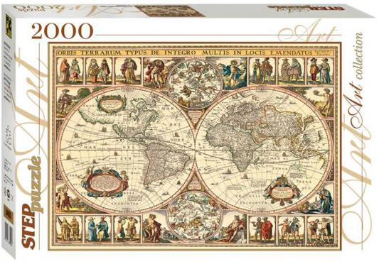 Пазл Step Puzzle Art Collection Историческая карта мира 2000 элементов пазл step puzzle развивающие паззлы союзмультфильм путешествие в мир добра в асс 76064