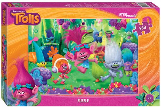"Пазл Step Puzzle ""Trolls"" 560 элементов  step puzzle пазл для малышей trolls 91222"