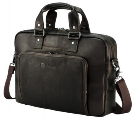 Сумка для ноутбука 14 HP Elite Top Load Colombian Leather Case кожа черный T9H72AA