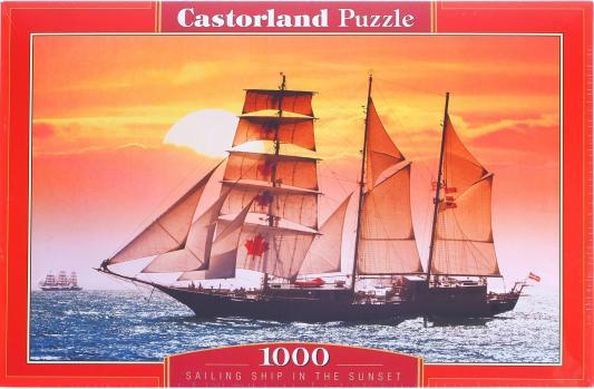 Пазл Кастор Парусник на закате 1000 элементов C-100392 пазл кастор озеро канада 1000 элементов