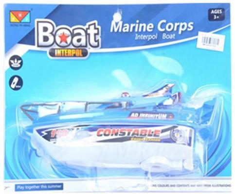 """Катер на радиоуправлении Shantou Gepai Marine Corps """"Constable"""" голубой от 3 лет пластик  311-89"""