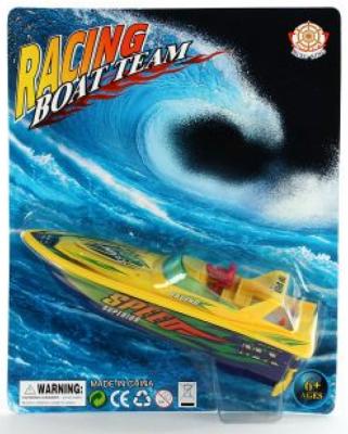 Катер на радиоуправлении Shantou Gepai Racing Boat Team - Speed желтый от 6 лет пластик 378-1