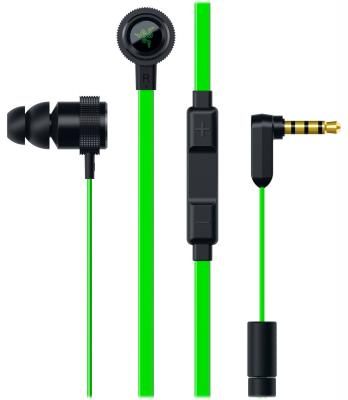 Гарнитура Razer Hammerhead Pro V2 RZ04-01730100-R3G1 new razer hammerhead pro v2 earphone flat style cables with 3 5mm jack and volume controls with mic for mobile gaming earphones