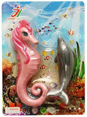 Набор фигурок Shantou Gepai Дельфин и морской конек shantou набор дельфин и морской конек 3302b gepai