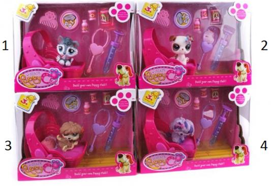 Игровой набор Shantou Gepai Puppy Club - Щенок с лежанкой и аксессуарами CL2108/9-12 развивающая игрушки shantou gepai веселый зоопарк yq2979