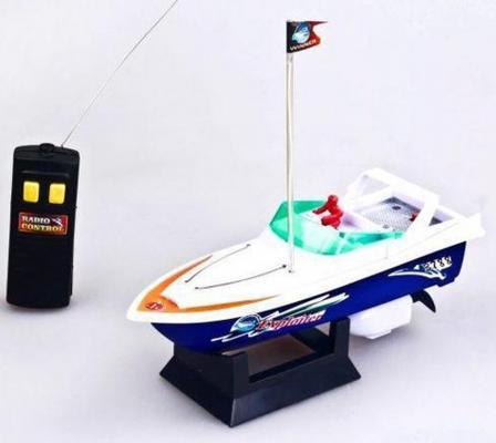 Катер на радиоуправлении Shantou Gepai Speed Boat белый от 5 лет пластик 2 функции 3788