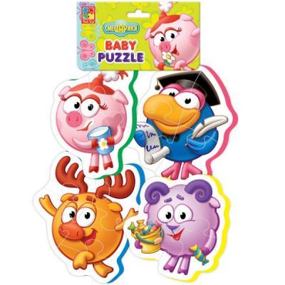 Мягкий пазл 16 элементов Vladi toys Baby puzzle Смешарики VT1106-48 мягкий пазл 20 элементов vladi toys зверята vt3203 42