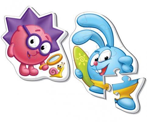 Купить Мягкий пазл Vladi toys Baby puzzle Макси Смешарики Крош и Ёжик 12 элементов VT1108-05, Пазлы для малышей