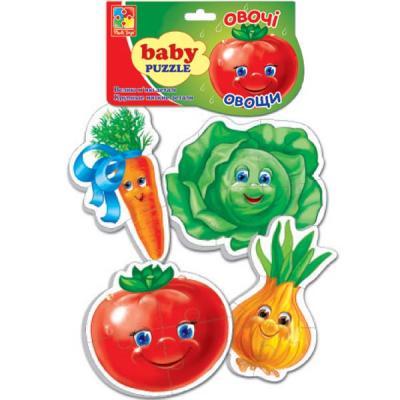 Мягкий пазл Vladi toys Baby puzzle Овощи 16 элементов пазлы vladi toys пазлы мягкие baby puzzle сказки репка