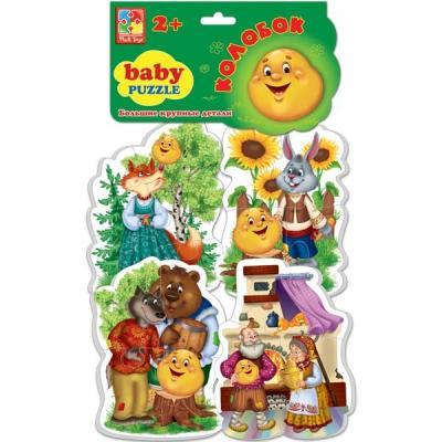 Мягкий пазл 16 элементов Vladi toys Baby puzzle Сказки Колобок VT1106-36 мягкий пазл 20 элементов vladi toys зверята vt3203 42
