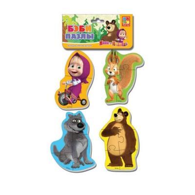 Мягкий пазл Vladi toys Baby puzzle Маша и Медведь Белка и волк 16 элементов VT1106-52 vladi toys мягкие пазлы baby puzzle сказки репка