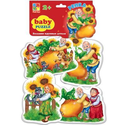 Мягкий пазл Vladi toys Baby puzzle Сказки Репка 16 элементов учимся одеваться с обезьянкой 1492