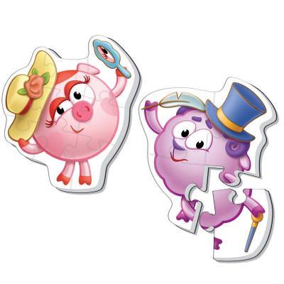 Купить Мягкий пазл 12 элементов Vladi toys Baby puzzle Макси Смешарики Нюша и Бараш VT1108-06, Пазлы для малышей