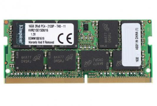 Оперативная память для ноутбука SO-DDR4 16Gb PC4-17000 2133MHz DDR4 DIMM CL15 Kingston KVR21SE15D8/16 оперативная память для ноутбуков so ddr4 8gb pc17000 2133mhz kingston kvr21s15s8 8