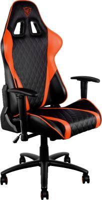 Кресло компьютерное игровое Thunder X3 TGC15 оранжево-черный TGC15-BO компьютерное кресло thunderx3 tgc22 bo