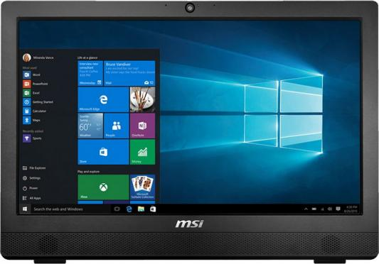 "Моноблок 23.6"" MSI Pro 24 4BW-016RU 1920 x 1080 Intel Celeron-N3160 4Gb 1Tb Intel HD Graphics 400 использует системную DOS черный 9S6-AE9211-016"
