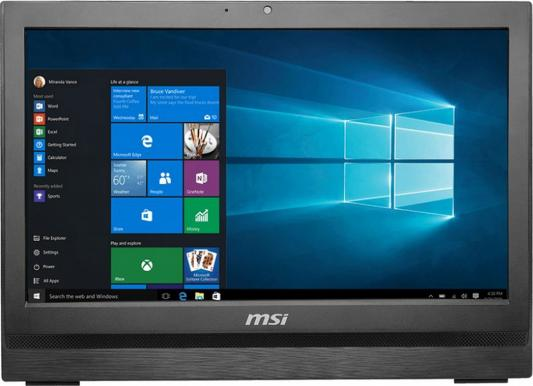"Моноблок 19.5"" MSI Pro 20 6M-028RU 1600 x 900 Intel Core i3-6100 4Gb 1Tb Intel HD Graphics 530 использует системную DOS черный 9S6-AA7811-028"