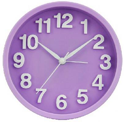 """Будильник Вега """"Хорошее настроение"""" 6092 фиолетовый"""