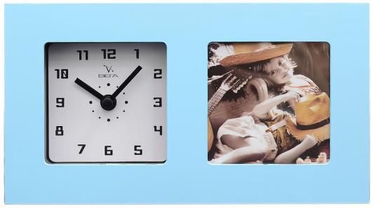 Часы-фоторамка Вега 6409 голубой кронштейн kromax vega 50 белый
