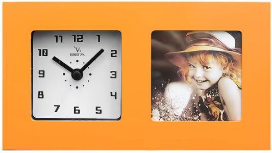 Часы настольные Вега 6409 оранжевый часы настольные вега hs 2722