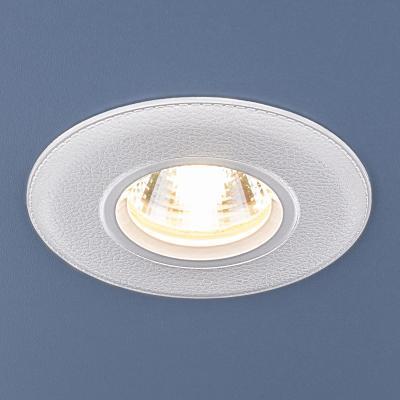 Встраиваемый светильник Elektrostandard 107 MR16 WH белый 4690389076220  встраиваемый потолочный светодиодный светильник elektrostandard dls186 18w 6500k белый wh