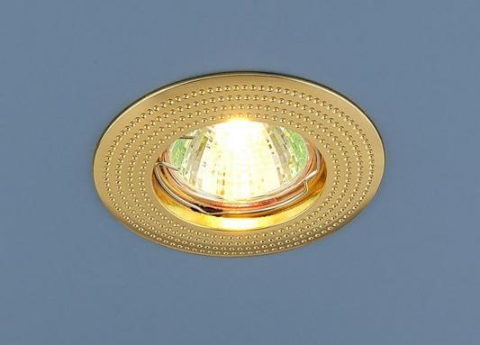 Встраиваемый светильник Elektrostandard 601 MR16 GD золото 4690389011016