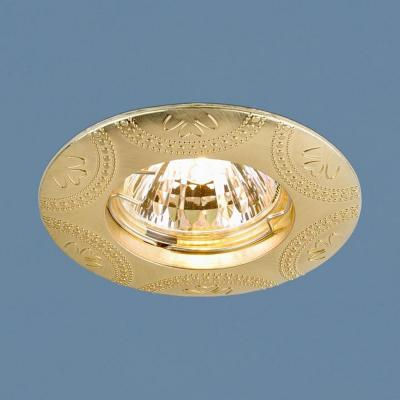 Встраиваемый светильник Elektrostandard 602 MR16 SG сатин золото 4690389060830