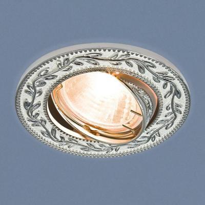 Встраиваемый светильник Elektrostandard 713 MR16 WH/SL белый/серебро 4690389060724 икона янтарная богородица скоропослушница иян 2 713