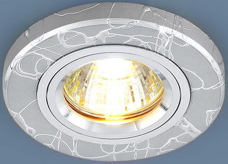 Встраиваемый светильник Elektrostandard 2050 MR16 SL серебро 4607176194838 торговый дом ника 2050 mr x4 подсвечник 7 ми рожковый размер 31х18х40 см 2050 mr 2050 mr 2050 mr