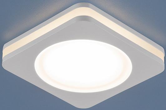 Встраиваемый светодиодный светильник Elektrostandard DSK80 5W 3300K 4690389055089 лампочка elektrostandard свеча cd f e14 5w 3300k