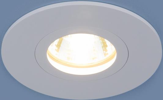 Встраиваемый светильник Elektrostandard 2100 MR16 WH белый 4690389064135  встраиваемый потолочный светодиодный светильник elektrostandard dls186 18w 6500k белый wh