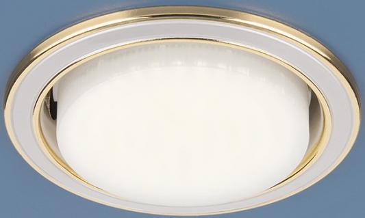 Встраиваемый светильник Elektrostandard 1036 GX53 WH/GD белый/золото 4690389069192 светильник встраиваемый акцент 16001ba жемчужное золото золото