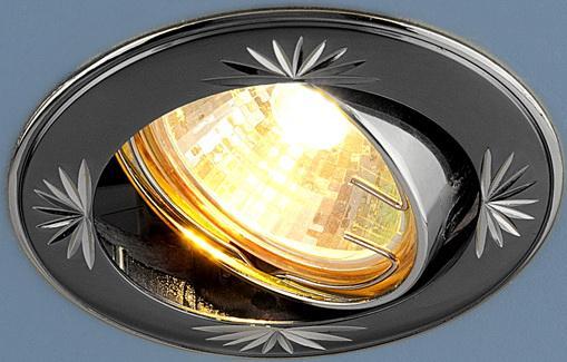 Фото - Встраиваемый светильник Elektrostandard 104A MR16 GU/SL черный/серебро 4690389003417 cветильник галогенный de fran встраиваемый 1х50вт mr16 ip20 зел античное золото